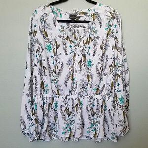 Worthington peplum blouse XL